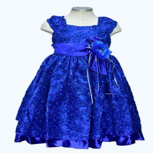 New Ink Blue Girls Party Dress